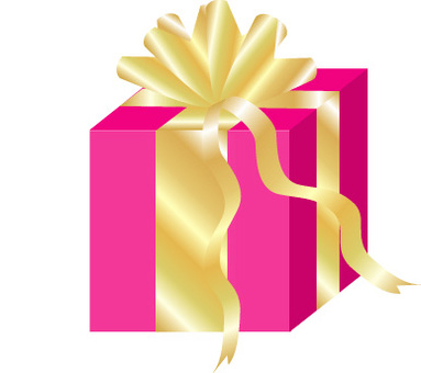 Gorgeous pink gift box