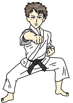 Karate player