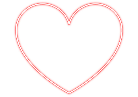 Heart frame of light line 2