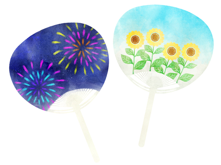 Watercolor fan