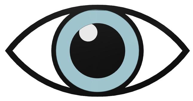 무료 클립 아트 : 눈 눈 일러스트 눈동자 양쪽 여성의 눈 - 1102169 | illustAC