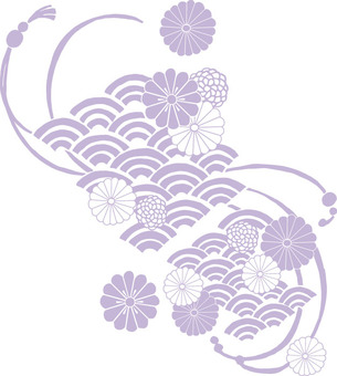 Chrysanthemum pattern (light purple)