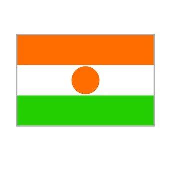 National flag Niger