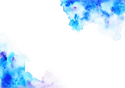 Watercolor frame _ blue