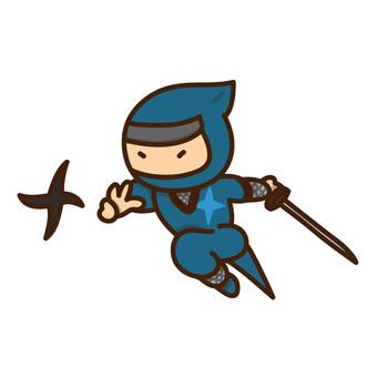 Illustration of a ninja throwing a shuriken