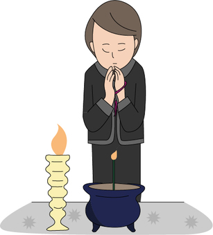 Funeral related illustrations