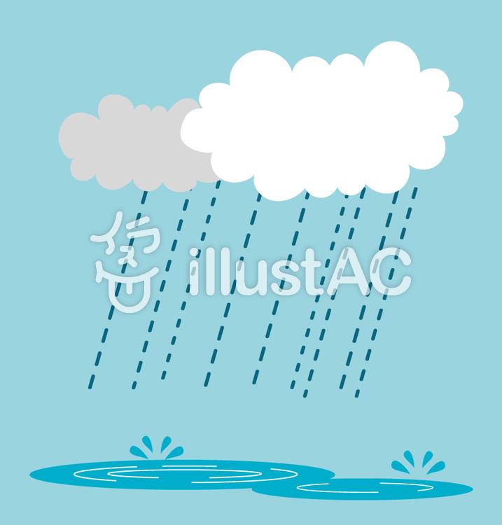 雨と水たまりイラスト No 1098292無料イラストならイラストac
