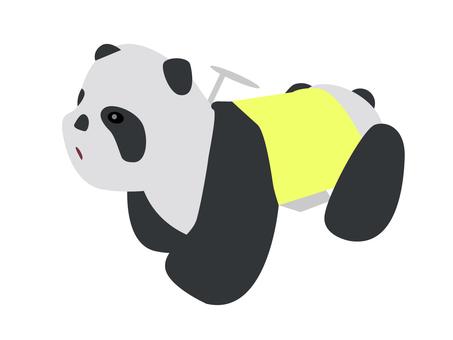 Panda playground equipment