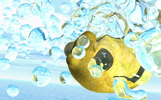 Water splashing on lemon 4-1