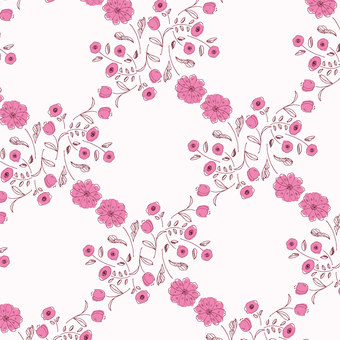 【Pattern】 Hand-painted flower 3