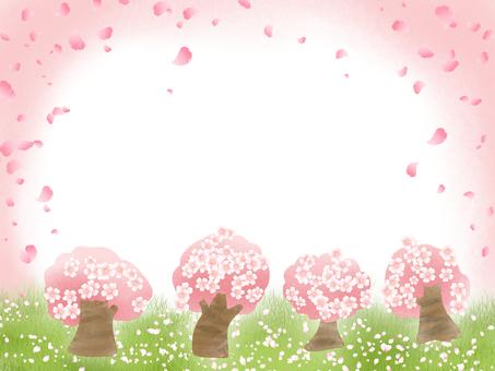 벚꽃 나무 카드