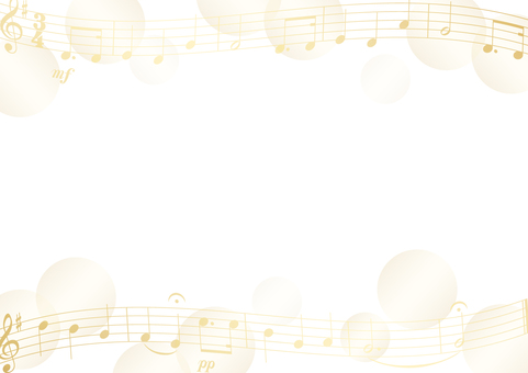 Music score and dot frame gold