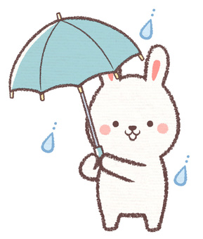 傘さしウサギ
