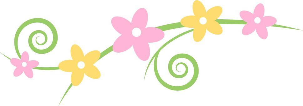 柔和的顏色小花