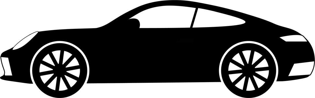 Sports car silhouette