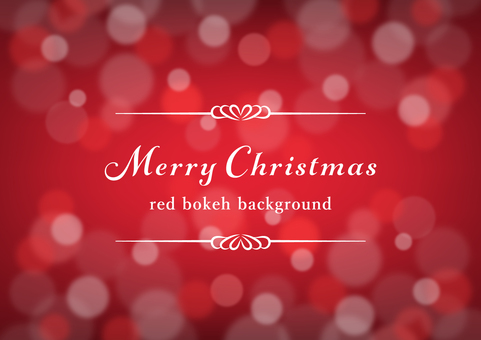 Christmas color blur background material (red)