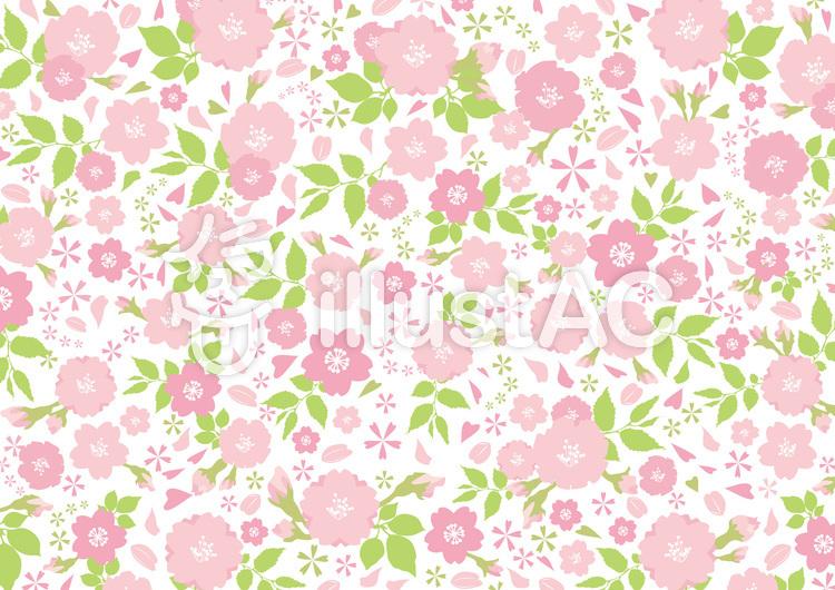 背景壁紙春花桜シンプルピンク色可愛い飾りイラスト No 701168無料