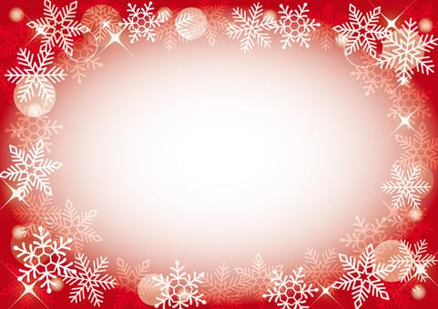 Snow crystal frame (red)