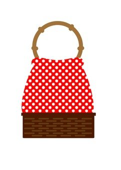 Drawstring bag (red)