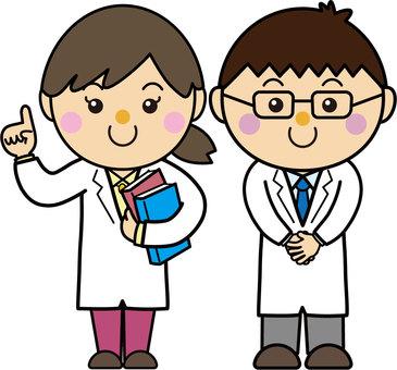 Gender 18_01 (white coat, doctor, researcher)