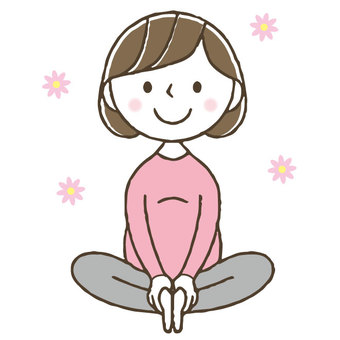 Maternity yoga / Pregnant women / Cute women