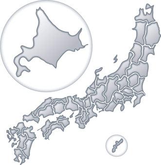 Japan Map Metal