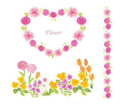 Spring flower material frame