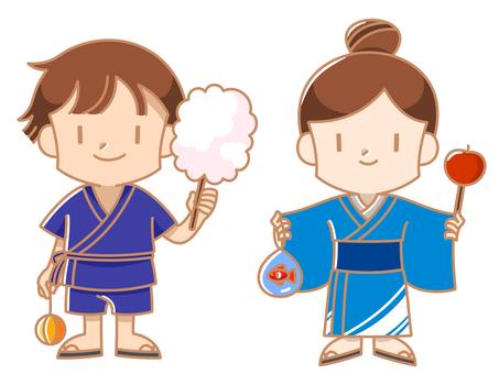 夏祭り(浴衣、甚平)
