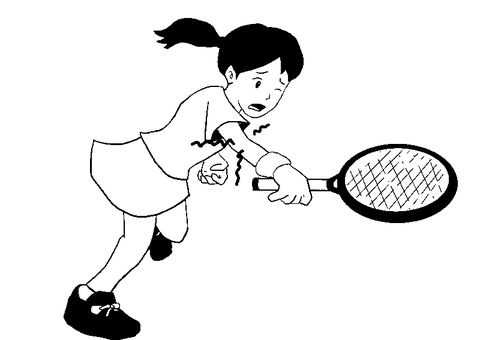 Tennis elbow monochrome