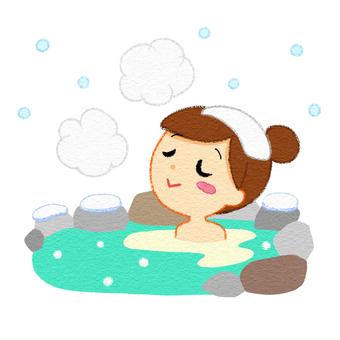Winter hot spring