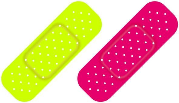 Colorful bandage