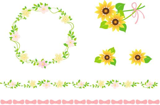 Sunflower flower material