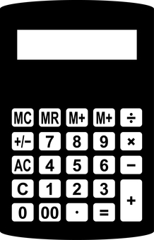 Calculator Calculator silhouette