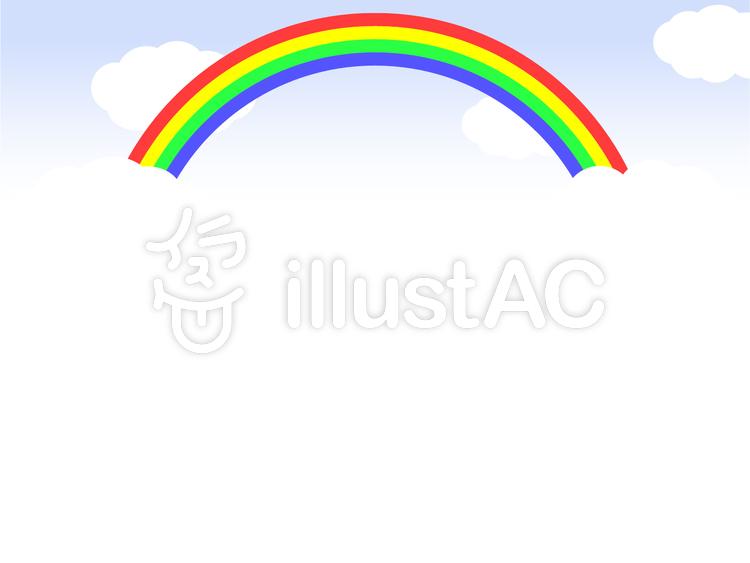 虹4色のメッセージカードイラスト No 473162無料