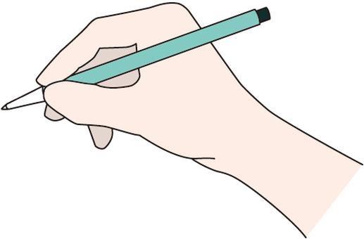 펜을 든 손