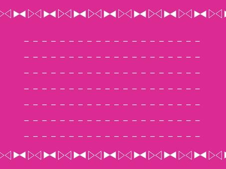 Simple memo pad Ribbon pink