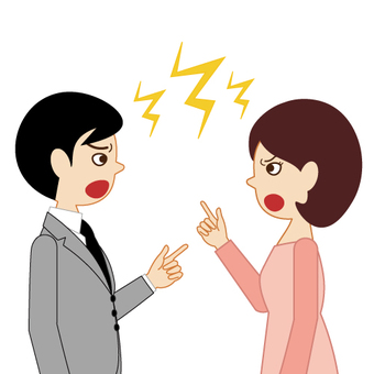 Image of male and female complaining