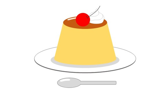 Pudding with a topping