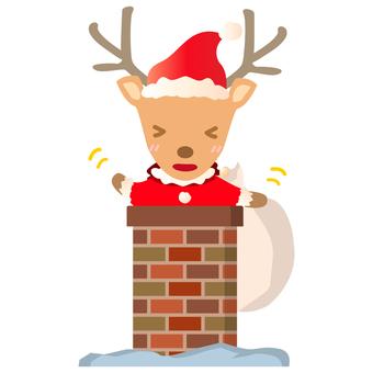 Santa Reindeer Chimney