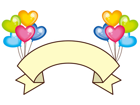 Title with balloons - Ribbon