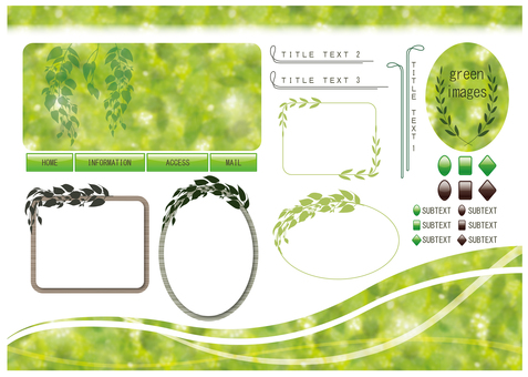 Design template that imagined fresh green