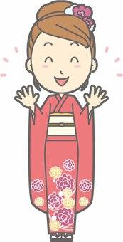 Kimono female a - Nico Nico - whole body
