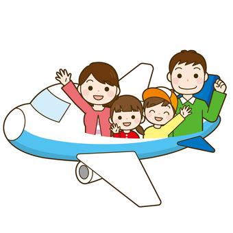 家族旅行 飛行機