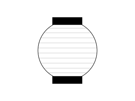 Lanterns - round shape (line drawing)