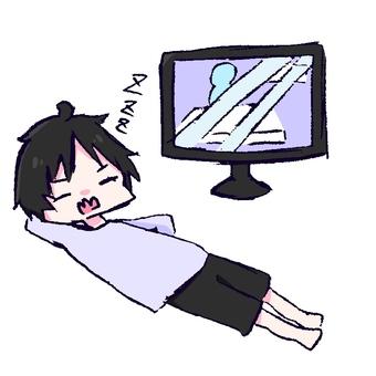 TV를 켜놓고 잠