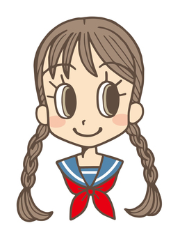Pigtails Sailor suit girls