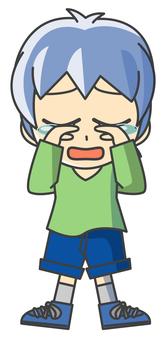 소년 일러스트 - 슬픔 5