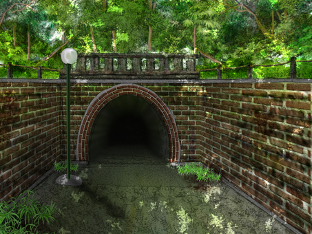 Tunnel in the mountains