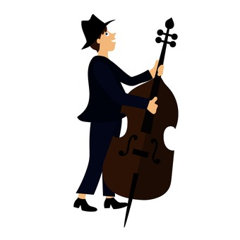 Contrabass player