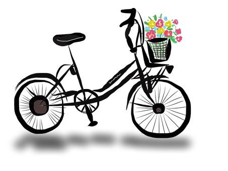 꽃 바구니 자전거